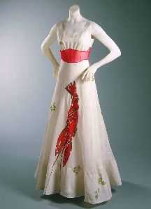 Lobster Dress 1937, as worn by the Duchess of Windsor | Circa Vintage Clothing
