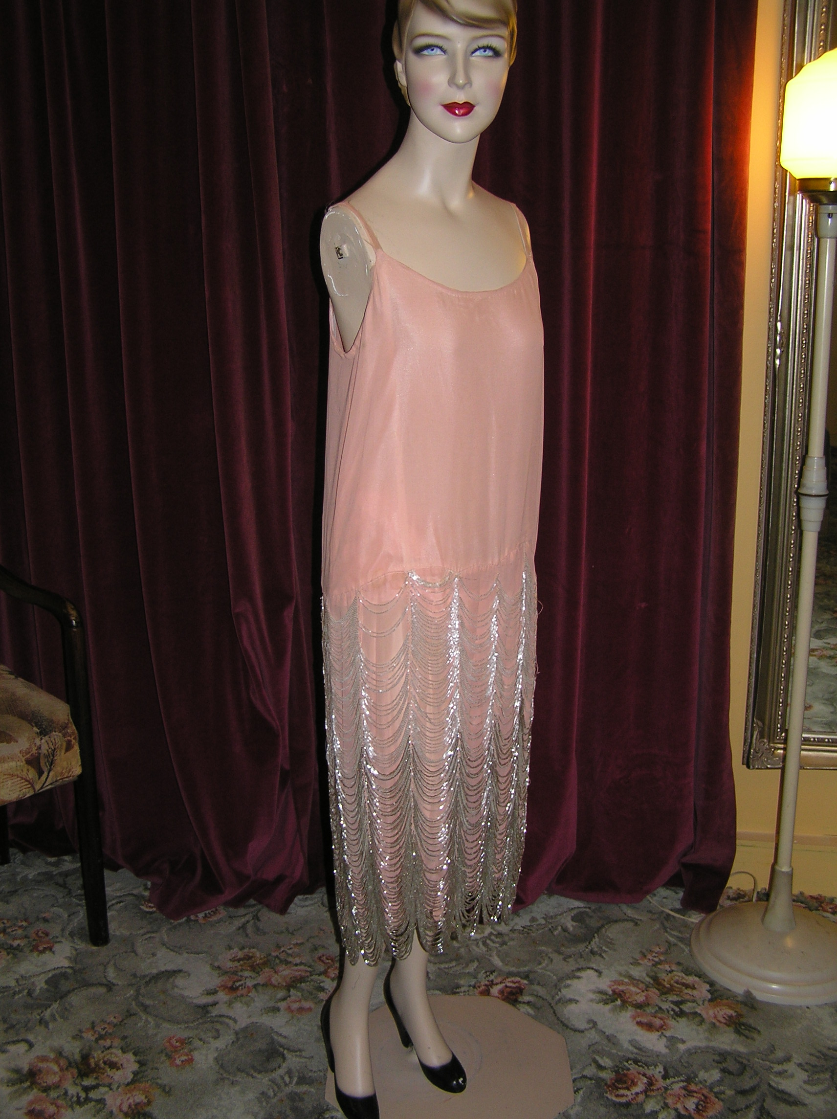 1920s chanel beaded silk gown circa vintage clothing