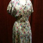 1930s floral crepe dress size 12