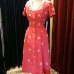 1950s pink linen dress size 10