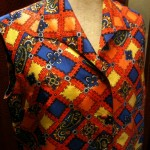 1960s paisley silk shift size 10