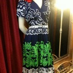 1960s silk print dress size 14