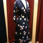 Late 1930s floral dressing gown size 12