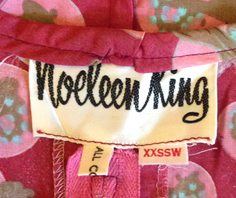 Noeleen King label late '60s