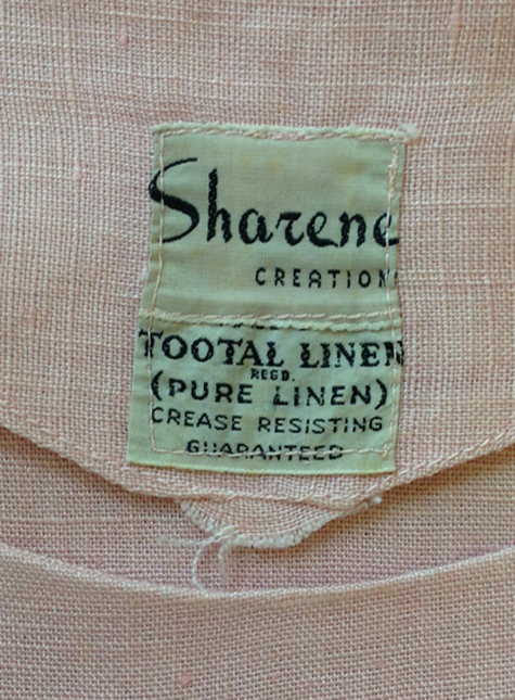 Sharene Creations label 1950s