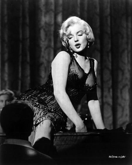 """Monroe in """"Some like it hot"""" 1959"""